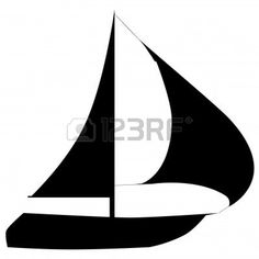 236x236 Sailing Silhouette Simple Stylised Vessel Clipart
