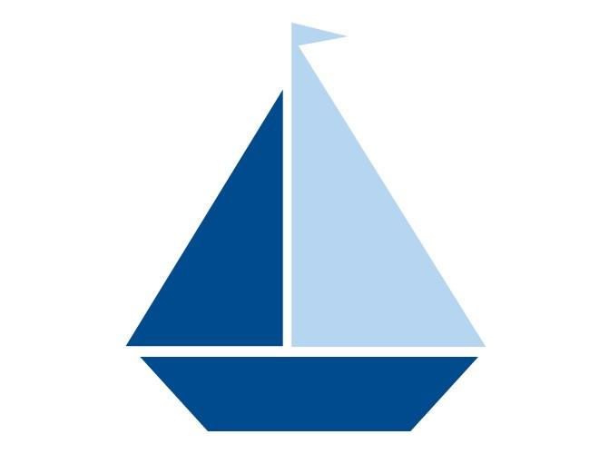660x500 Sailing Clipart Blue Sailboat