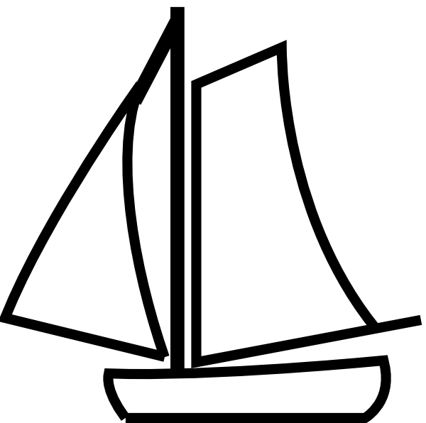 600x596 Image Of Sailboat Clipart Black And White