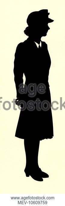 217x680 Full Length Silhouette Of A Royal Navy Sailor In Uniform, Stock