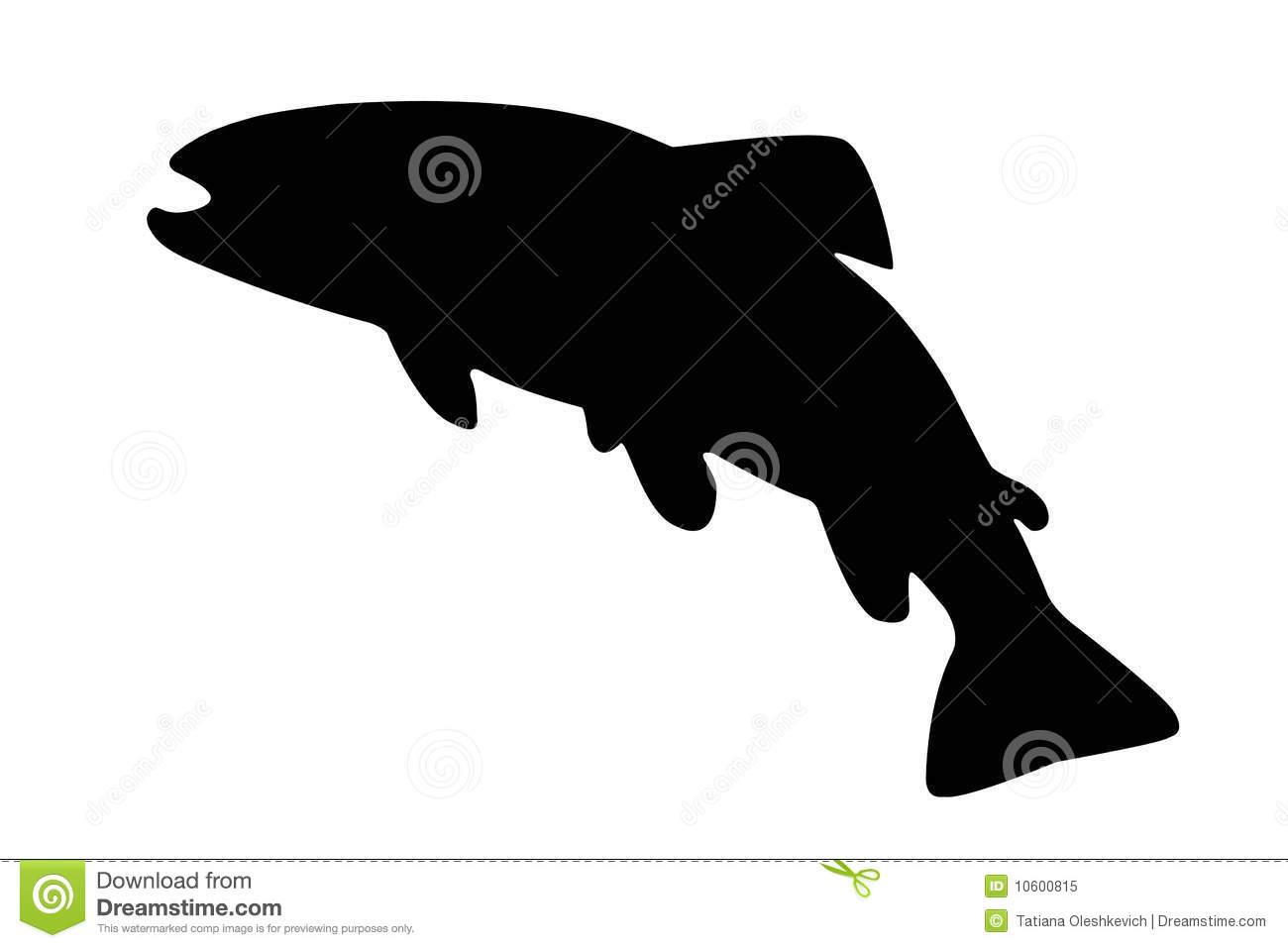 1300x957 Vector Silhouettes Of European Fishes Royalty Free Cliparts