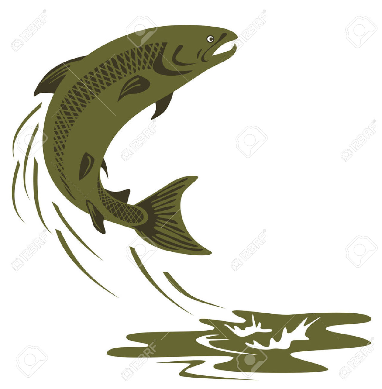 The Best Free Salmon Silhouette Images Download From 74