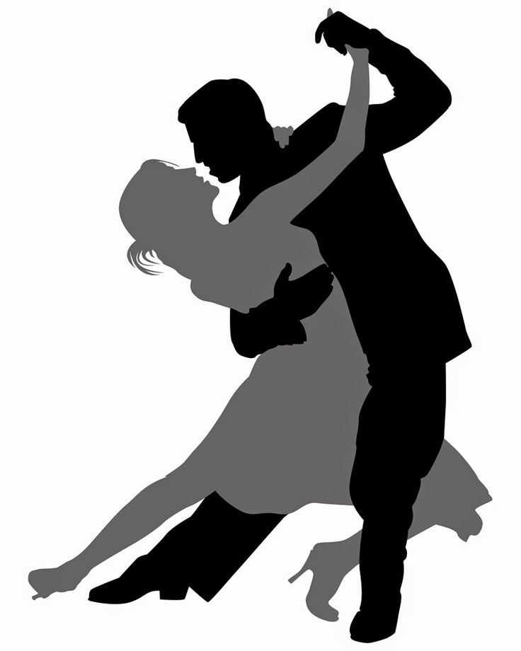 Salsa Dance Silhouette