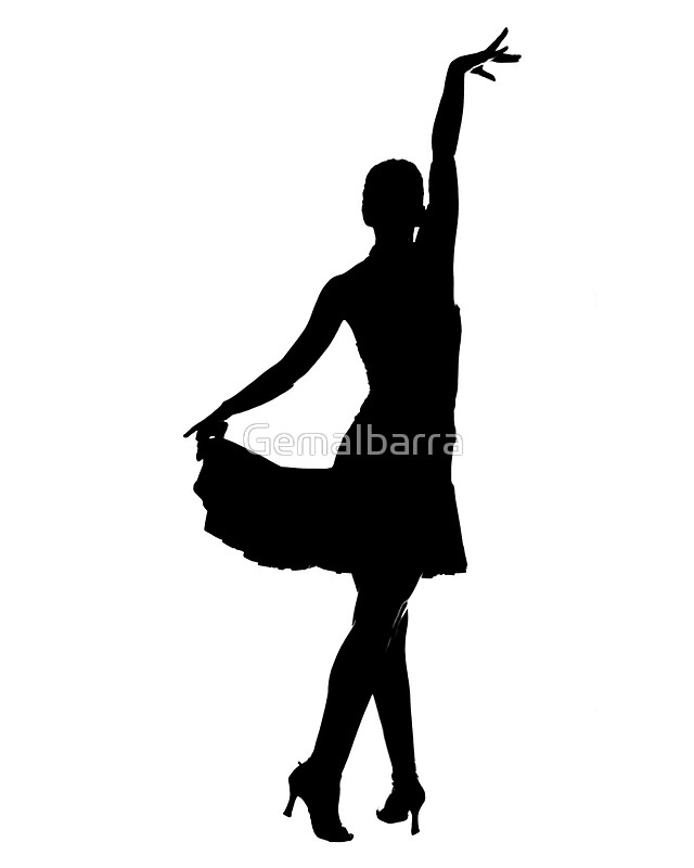 640x800 Latin Dancer Silhouette Stickers By Gemaibarra Redbubble