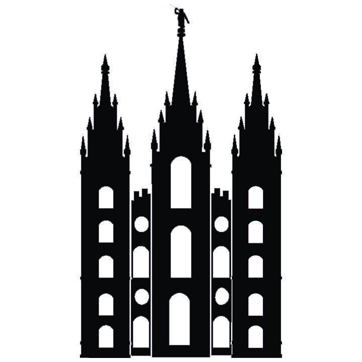 720x720 Salt Lake Temple Silhouette Simple Salt Lake City Temple Sud