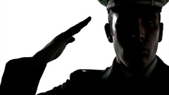 240x135 4k Salute Silhouette, Saluting Officer Force Person, Military