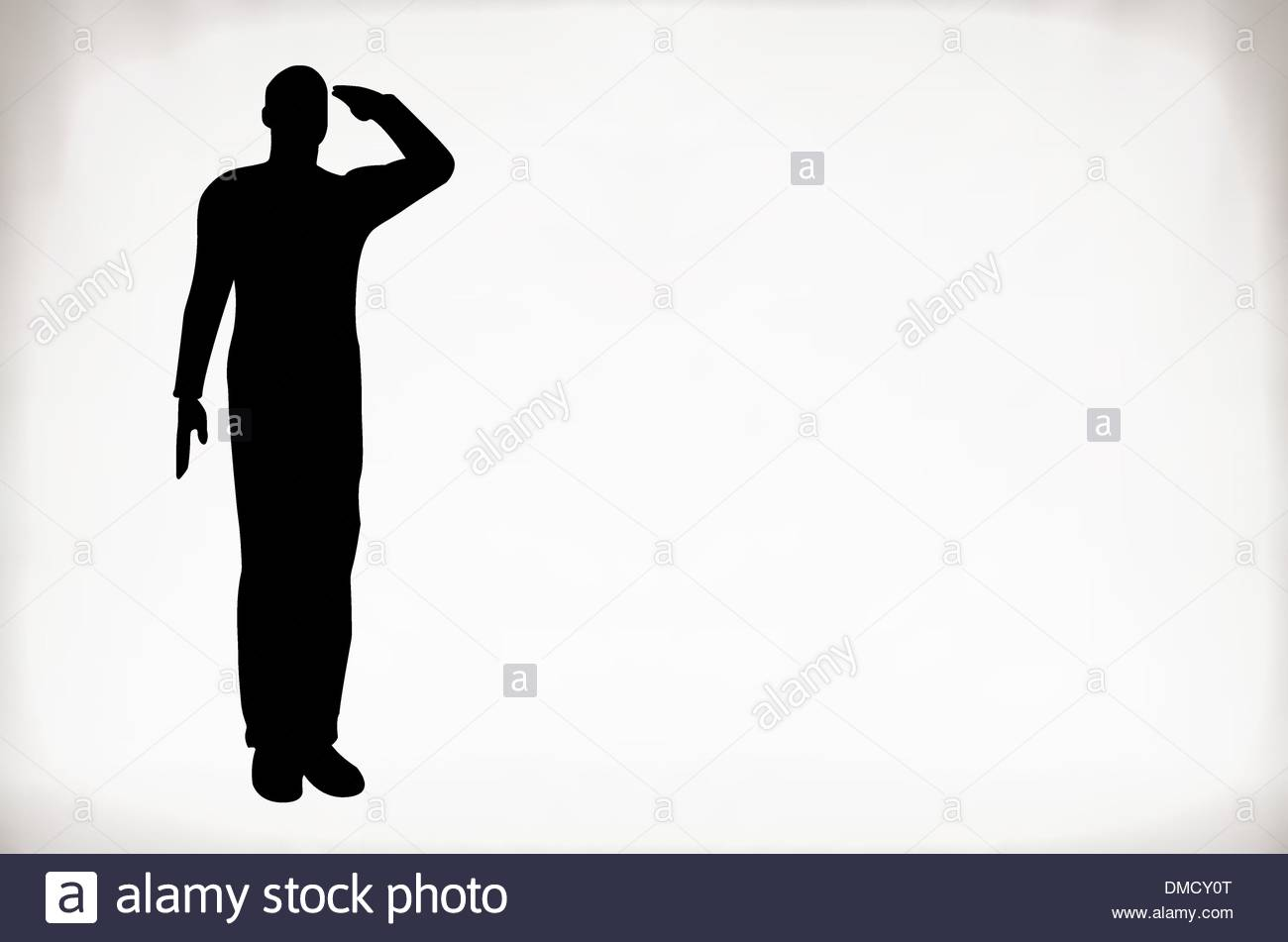 1300x951 Silhouette Of An Army Soldier Saluting Stock Vector Art