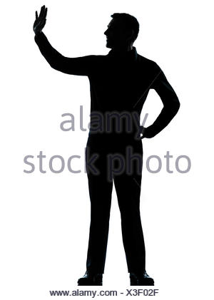 300x421 Silhouette Caucasian Business Man Expressing Showing Gesture Stock