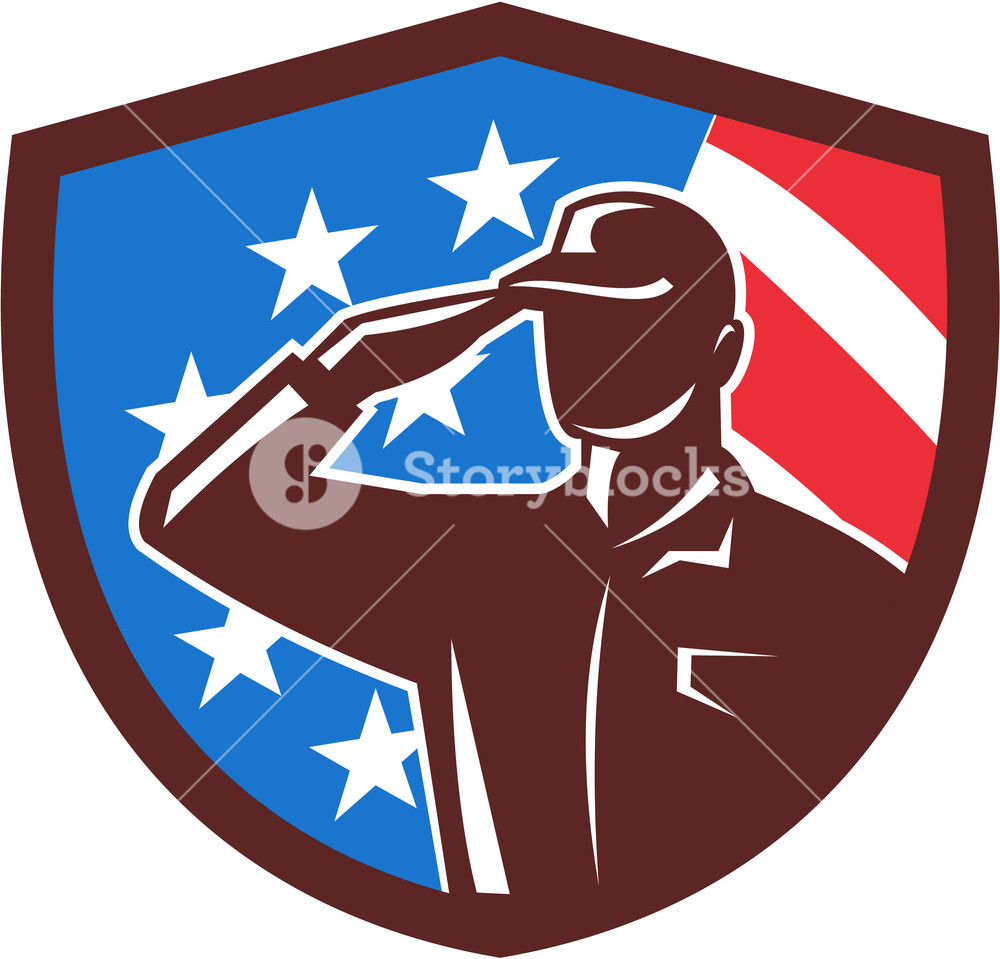 1000x959 Illustration Of An American Soldier Serviceman Silhouette Saluting