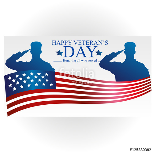 500x500 Veterans Day Poster. Us Military Armed Forces Soldier