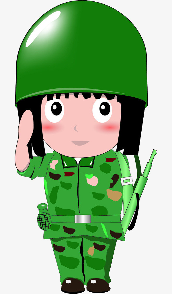600x1024 Salute The Soldiers, Female Soldiers, Green, Cartoon Png Image