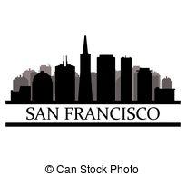 205x194 San Francisco Skyline. Cartoon Skyline Silhouette Of The Vector