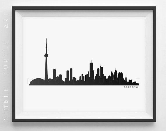 570x450 Toronto Skyline Silhouette