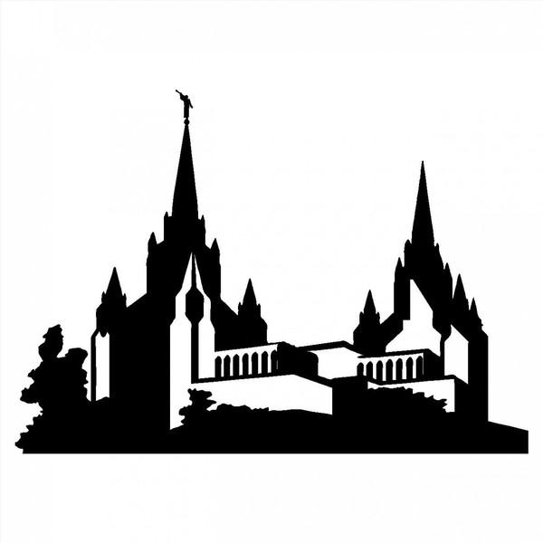 600x600 Lds Temple Silhouette Clipart