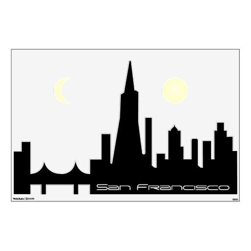 512x512 San Francisco Cityscape Skyline Wall Decal Wall Decals And San