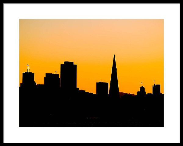 600x480 San Francisco Silhouette Framed Print By Bill Gallagher