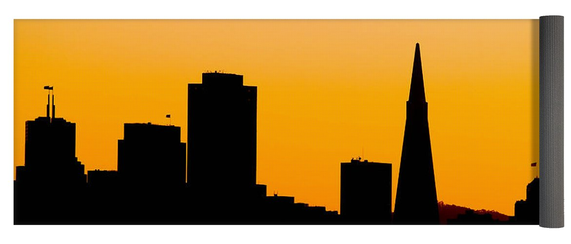 1171x500 San Francisco Silhouette Yoga Mat For Sale By Bill Gallagher