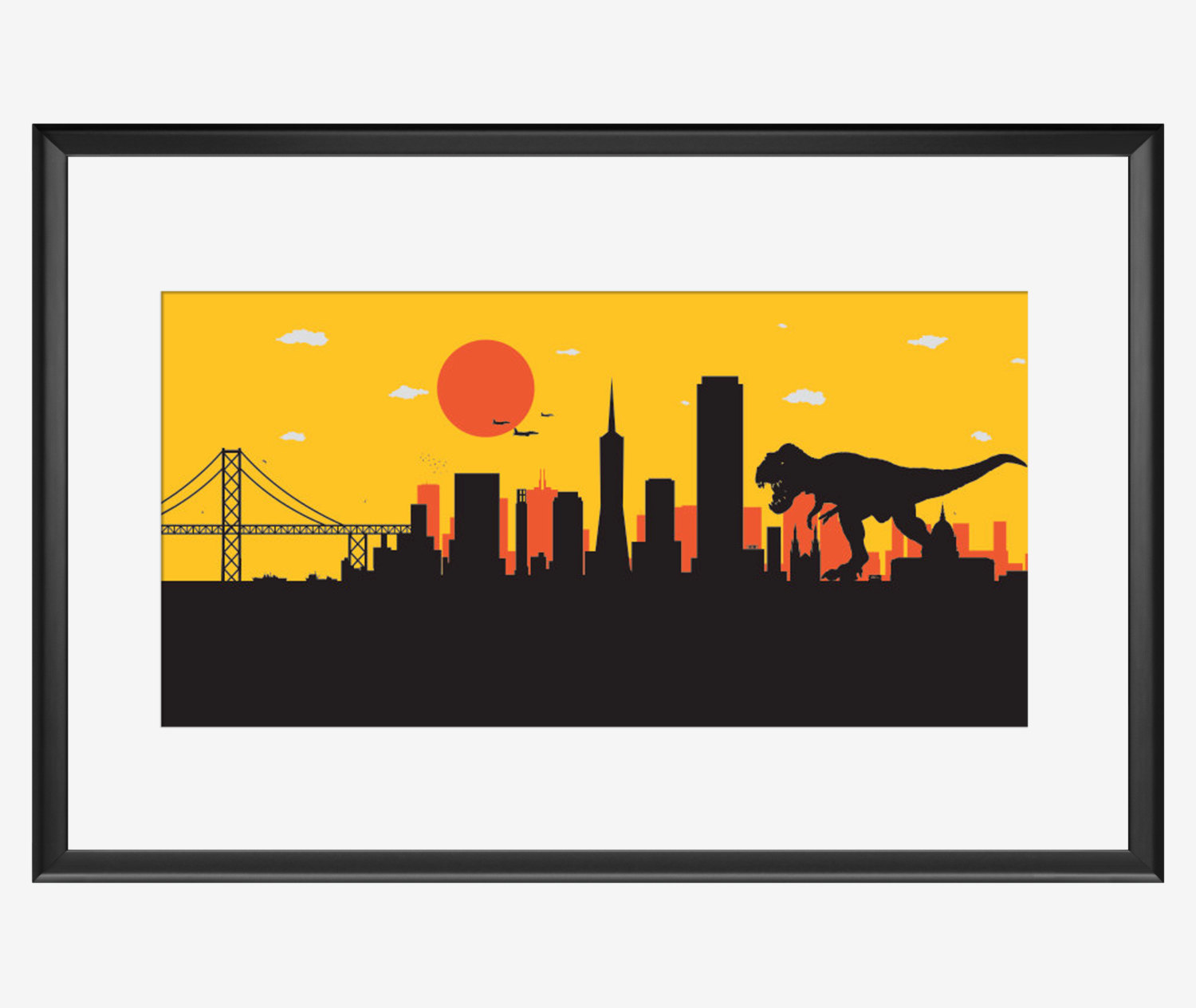 1500x1264 San Francisco Skyline Print San Francisco Art San Francisco
