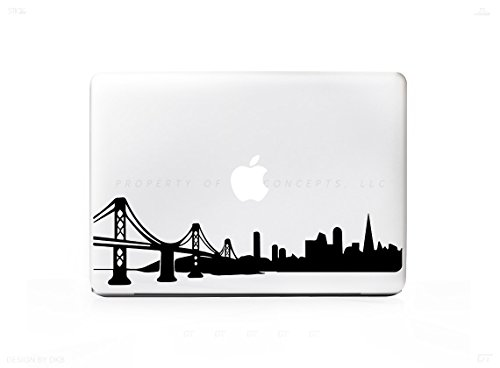 500x368 San Francisco Skyline Golden Gate Bridge Sticker Decal