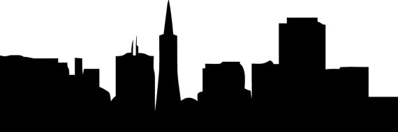 san francisco skyline silhouette png at getdrawings com free for