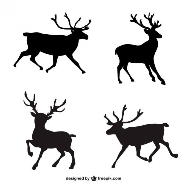 Santa And Reindeer Silhouette Free