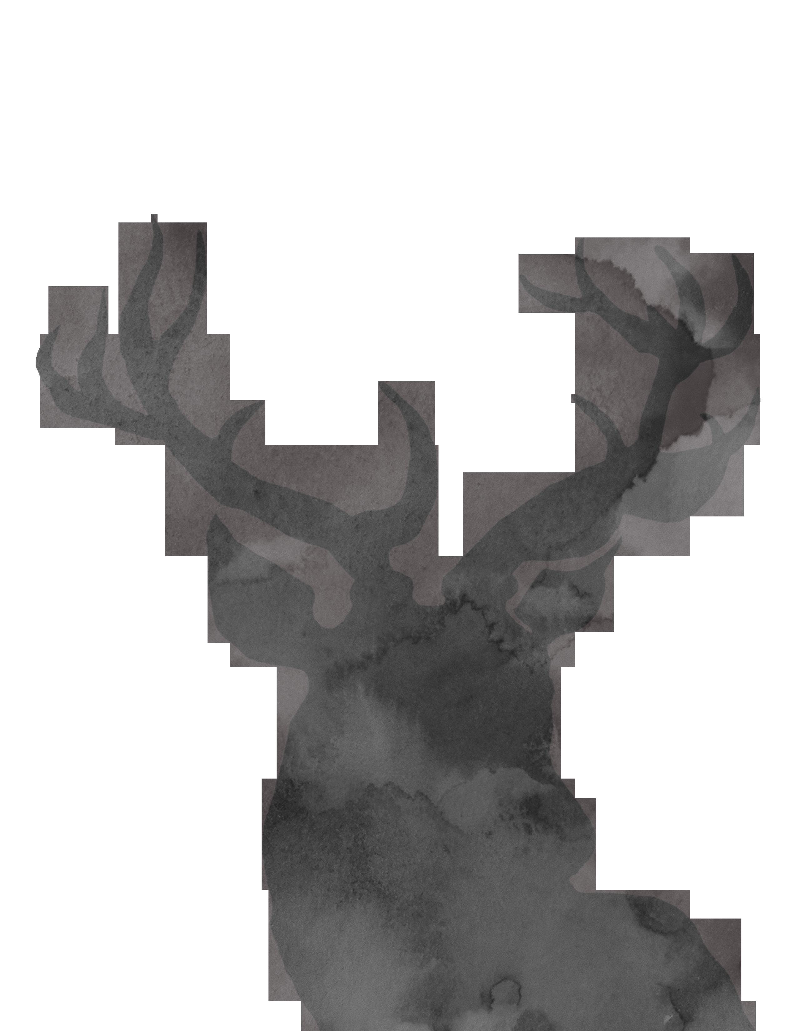 2550x3300 Reindeer Paper Santa Claus Holiday