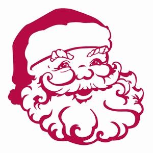 Santa Claus Face Silhouette