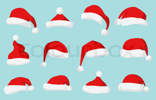 320x205 Santa Claus Red Hat Silhouette. Santa Hat, Santa Red Hat Isolated