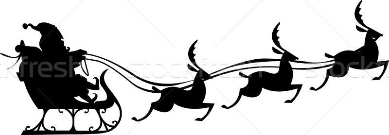 800x278 Santa Claus Silhouette Vector Illustration Tommaso Chiarolini