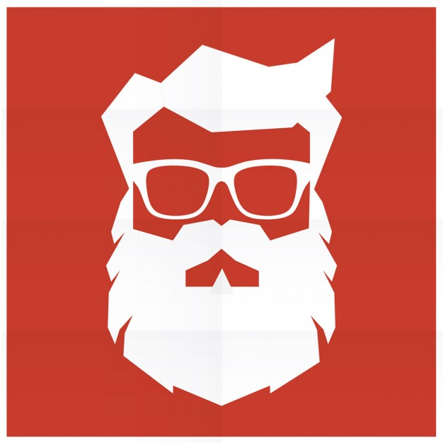 626x626 Silhouette Of Hipster Santa Claus Vector Free Download