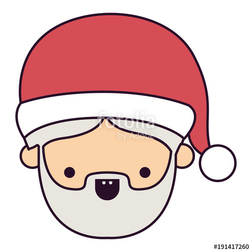 500x500 Santa Claus Man Kawaii Face Happiness With Open Mouth Expression
