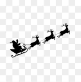 260x261 Christmas Tree Santa Claus Sleigh Silhouette Elk, Christmas Tree