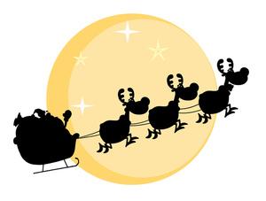 300x227 Shadow Clipart Santa Claus
