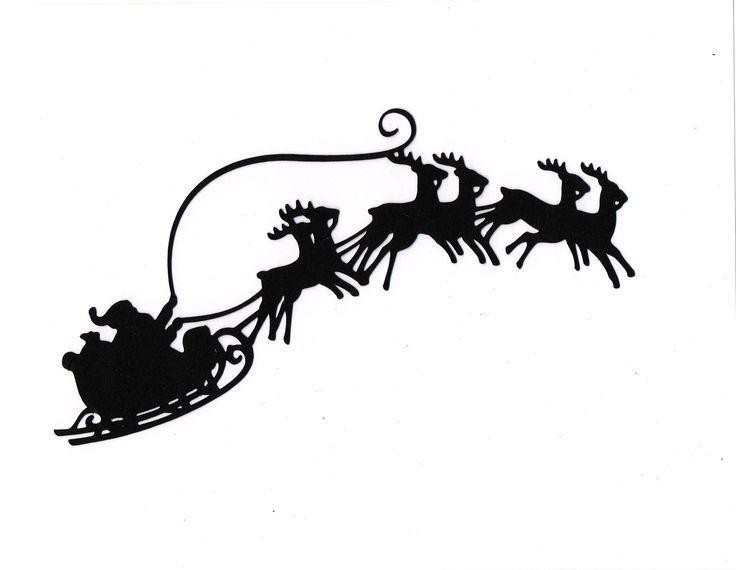 736x570 Silhouette Christmas Village