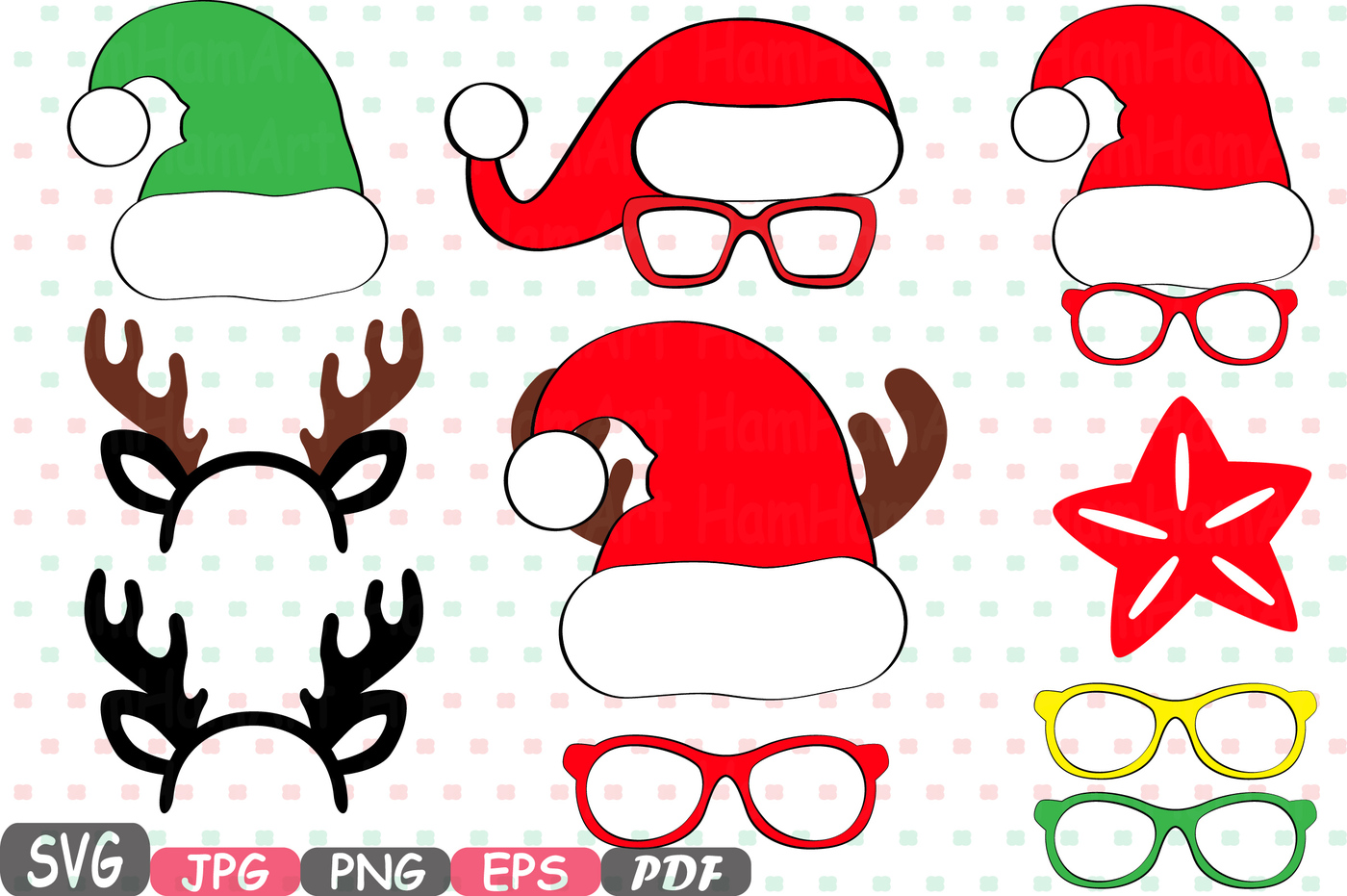1400x931 Christmas Props Party Photo Booth Silhouette Costume Cutting Files