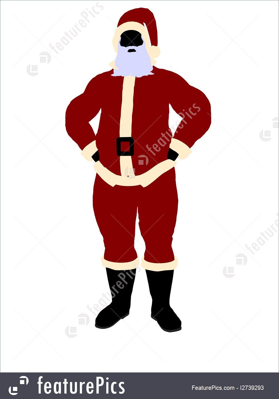 974x1392 Holidays Santa Claus Silhouette