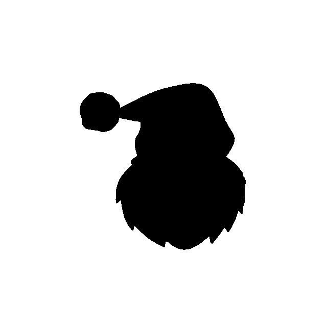 640x653 List Of Synonyms And Antonyms Of The Word Santa Silhouette