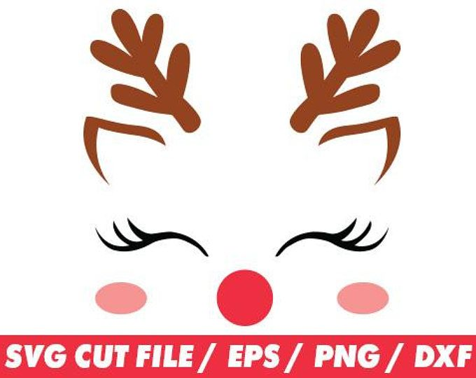 680x540 Reindeer Svg, Reindeer Face, Reindeer Face Svg, Reindeer Cricut