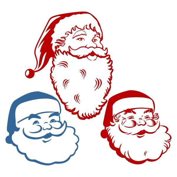 600x600 Santa Claus Face Cuttable Designs Svg Files Santa