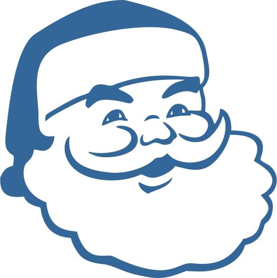 548x550 Santa Claus Face Cuttable Designs