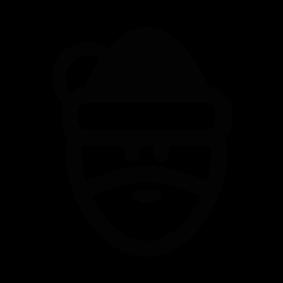 283x283 Santa Claus Face Silhouette Silhouette Of Santa Claus Face