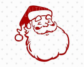 340x270 Santa Svg Christmas Svg Santa Claus Svg Cut Files For Cricut