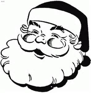 294x300 Coloring Page Of Smiling Face Of Santa Claus Clipart(Clip Art