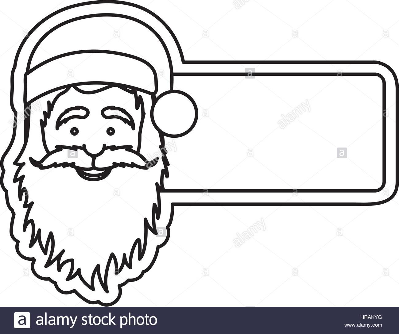1300x1089 Silhouette Banner With Face Cartoon Santa Claus Stock Vector Art