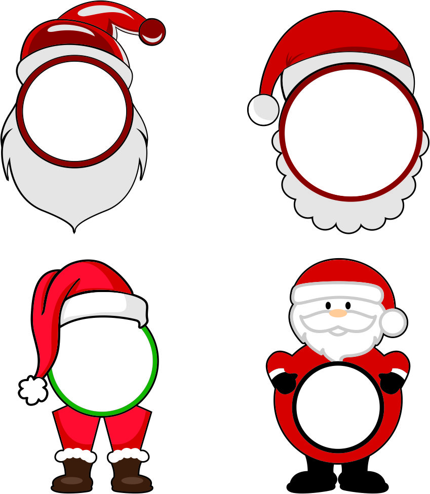 849x976 Pin By Cuttabledesigns On Frames And Accents Santa