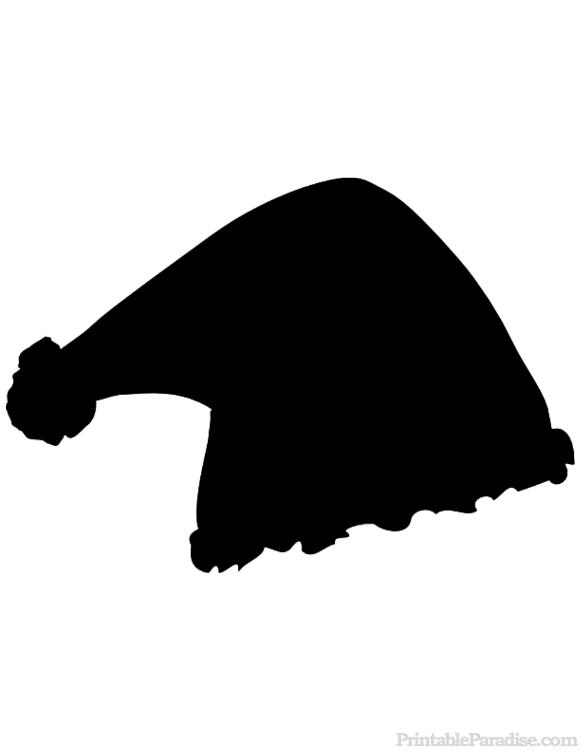 580x751 Santa Claus Hat Silhouette