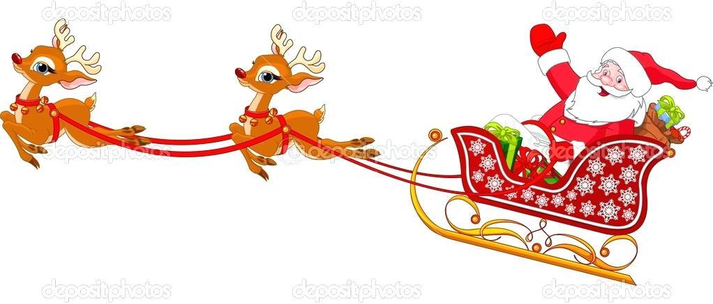 1022x437 Santa And Sliegh And Sleigh Silhouette Santa Sleigh Png Jogja.club