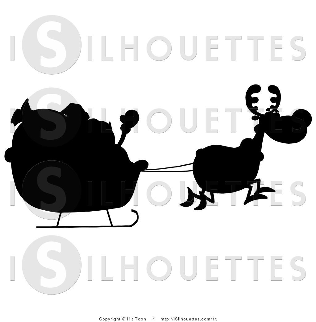 1024x1044 Santa Silhouette Clipart