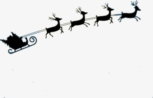 650x419 Black Elk Sleigh, Sled, Elk, Santa Claus Png And Psd File For Free