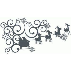 300x300 Santa Sleigh Fancy Corner Silhouette Design, Corner And Santa